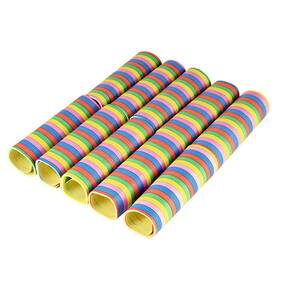 5 Farben 18 Ringe 4m 100 Rollen Luftschlangen Motiv-Sortiment